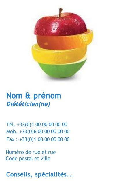 Dietetique Exemple Carte De Visite Pour Professionnel Sante Nutrition Impression Pas Chere A Personnaliser En Ligne Modele Gratuit