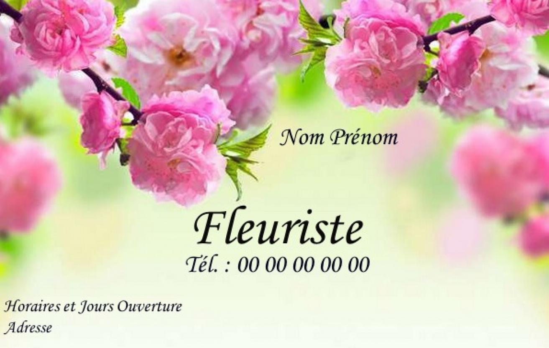 Carte de visite fleuriste mod le gratuit imprimer paysage for Fleuristes en ligne