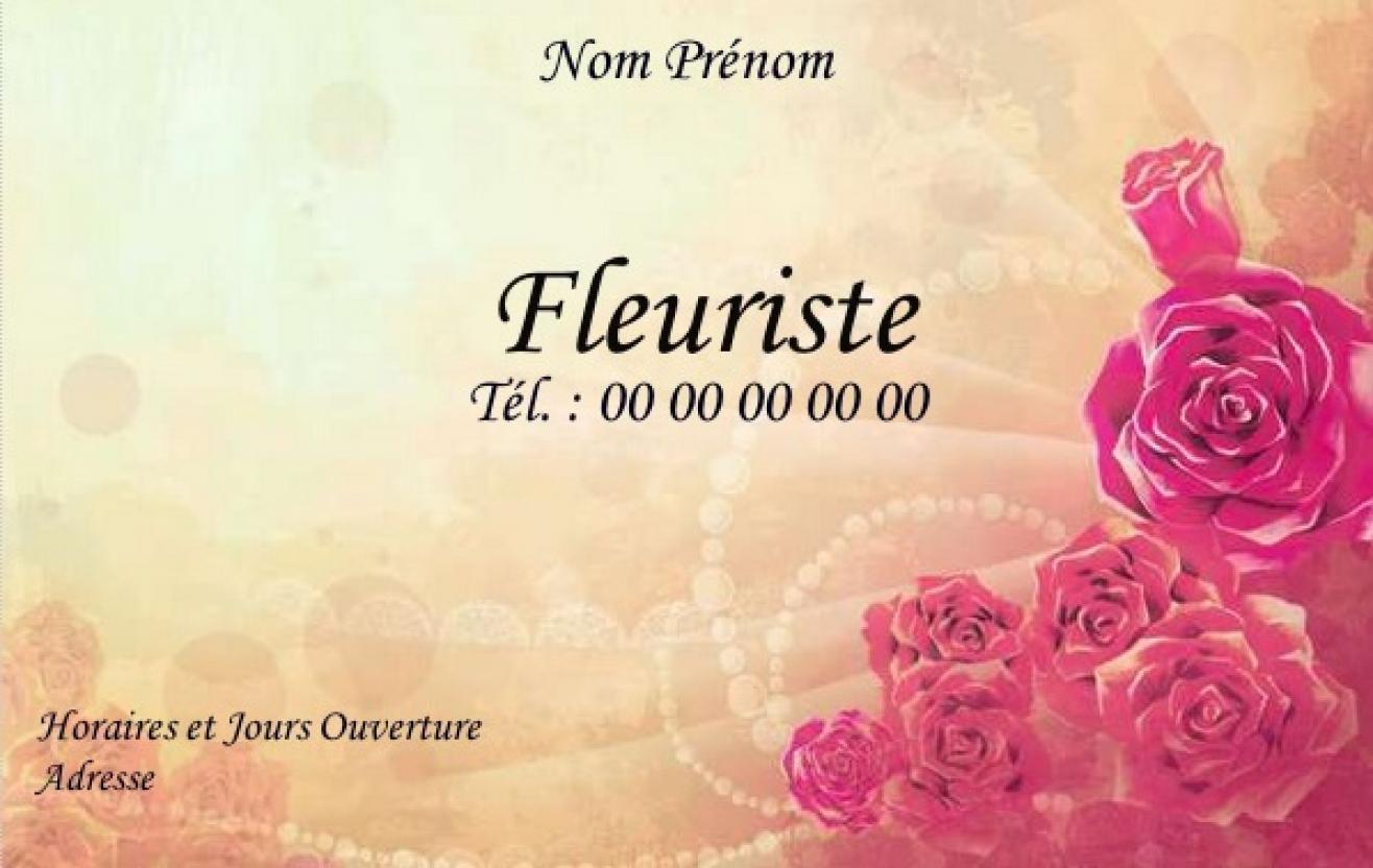 Modle Carte Fleuriste De Visite Pour Commerce Fleurs Impression Pas Chre Personnaliser En Ligne Gratuit