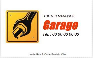 Garage Mcanique Carte De Visite Impression Pas Chre Personnaliser En Ligne Modle Gratuit
