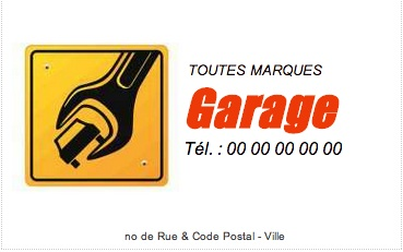 Carte de visite r parateur auto mod le gratuit imprimer for Logo garage mecanique