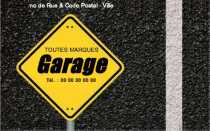 Modele Carte De Visite Garage Auto Pour Mecanicien Station Automobile A