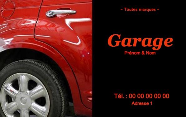 Garage Mcanique Carte De Visite Carrossier Impression Pas Chre Personnaliser En Ligne Modle Gratuit