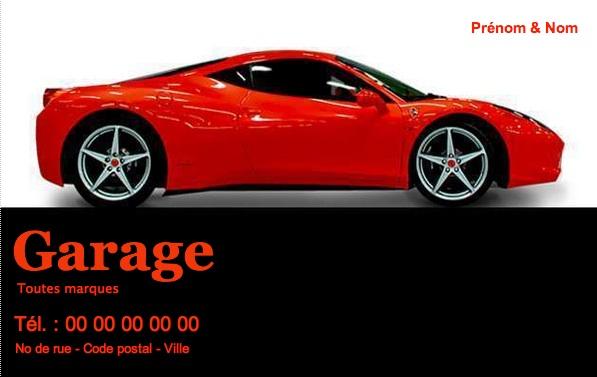 Carte de visite garage automobile mod le gratuit imprimer - Impression photo gratuite sans frais de port ...