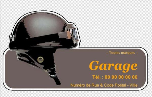 Carte de visite garage moto d coupe forme mod le for Garage reparation moto