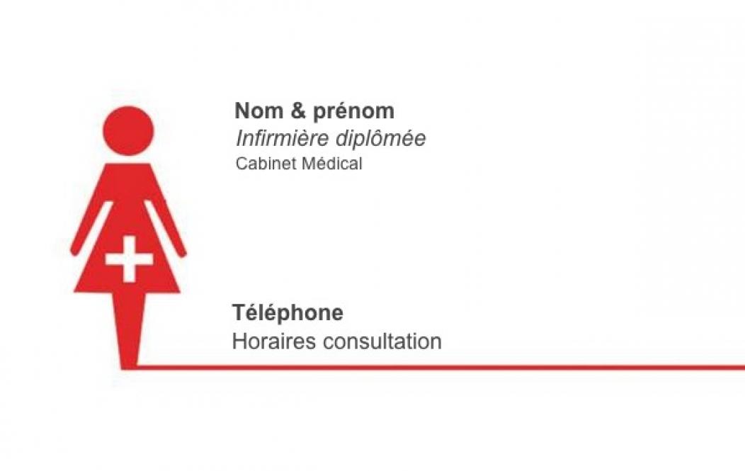 Populaire Carte de visite Infirmière Libérale | Carte de visite gratuite ED98