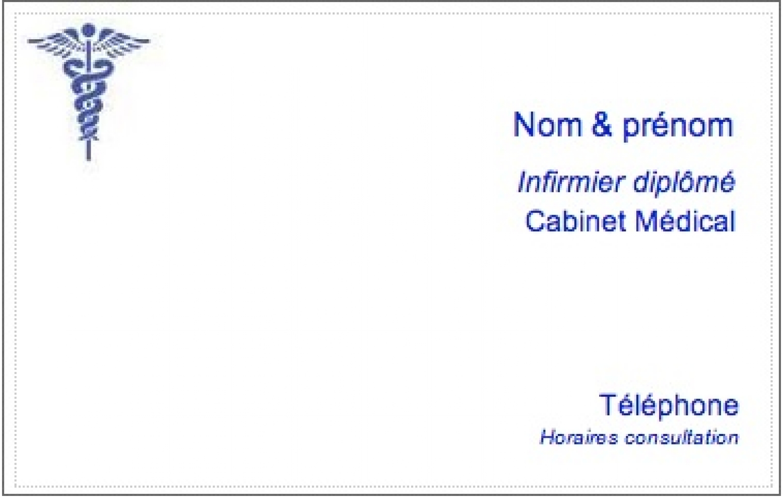 Infimier Infirmiere Modele Carte De Visite Infirmier Liberal Ex Pas Cher A Personnaliser En Ligne Gratuit