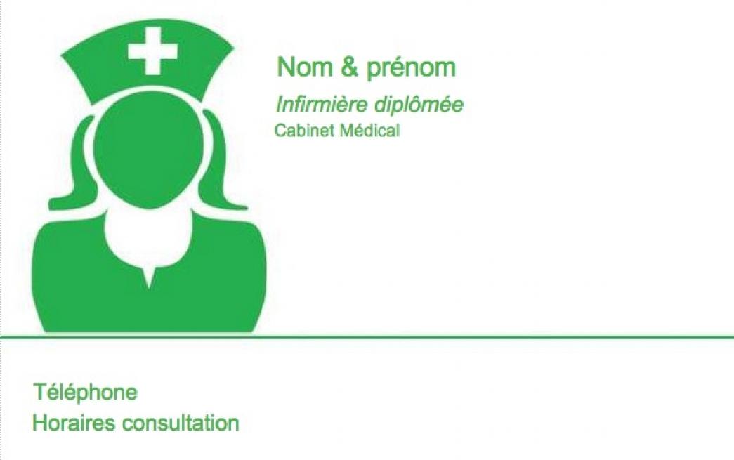 Carte de visite infirmi re lib rale mod le gratuit - Cabinet medical mezieres sur seine horaires ...