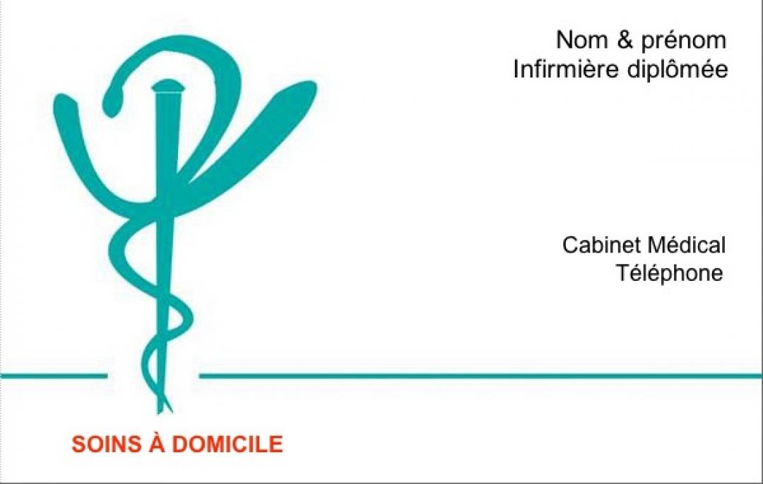 Infirmire Domicile Exemple Carte De Visite Librale Avec Caduce