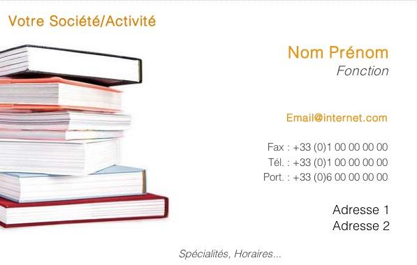 Livre Occasion Modle Carte De Visite Libraire Bouquiniste Gratuit Imprimer Viite Pas Chre En Ligne