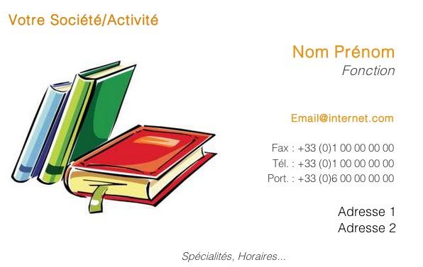Carte de visite libraire bouquiniste librairie - Impression photo gratuite sans frais de port ...