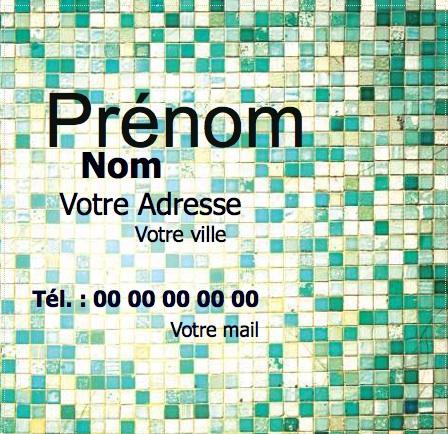 Carte De Visite Carre Modle Gratuit En Ligne Personnaliser Chez Soi Pas Chre Impression Moins
