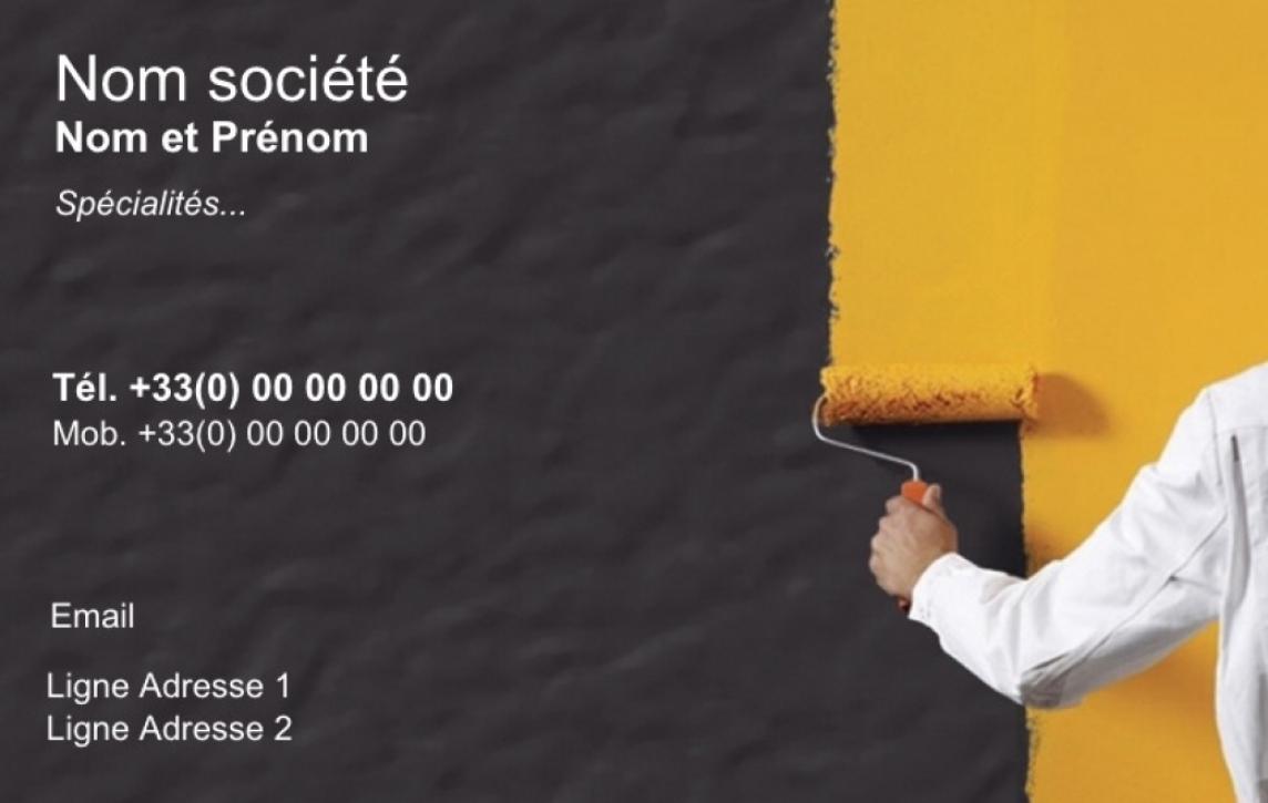 Peintre Batiment Pose Revetement Carte De Visite Pour Pas Cher Modele Gratuit En Ligne A Personnaliser Et Telecharger