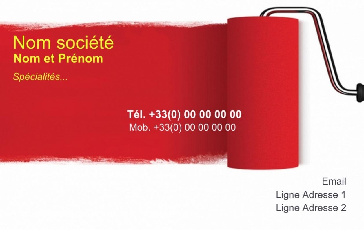 Peintre Modle Carte De Visite Professionnel Imprimer Gratuit Moins Chre En Ligne