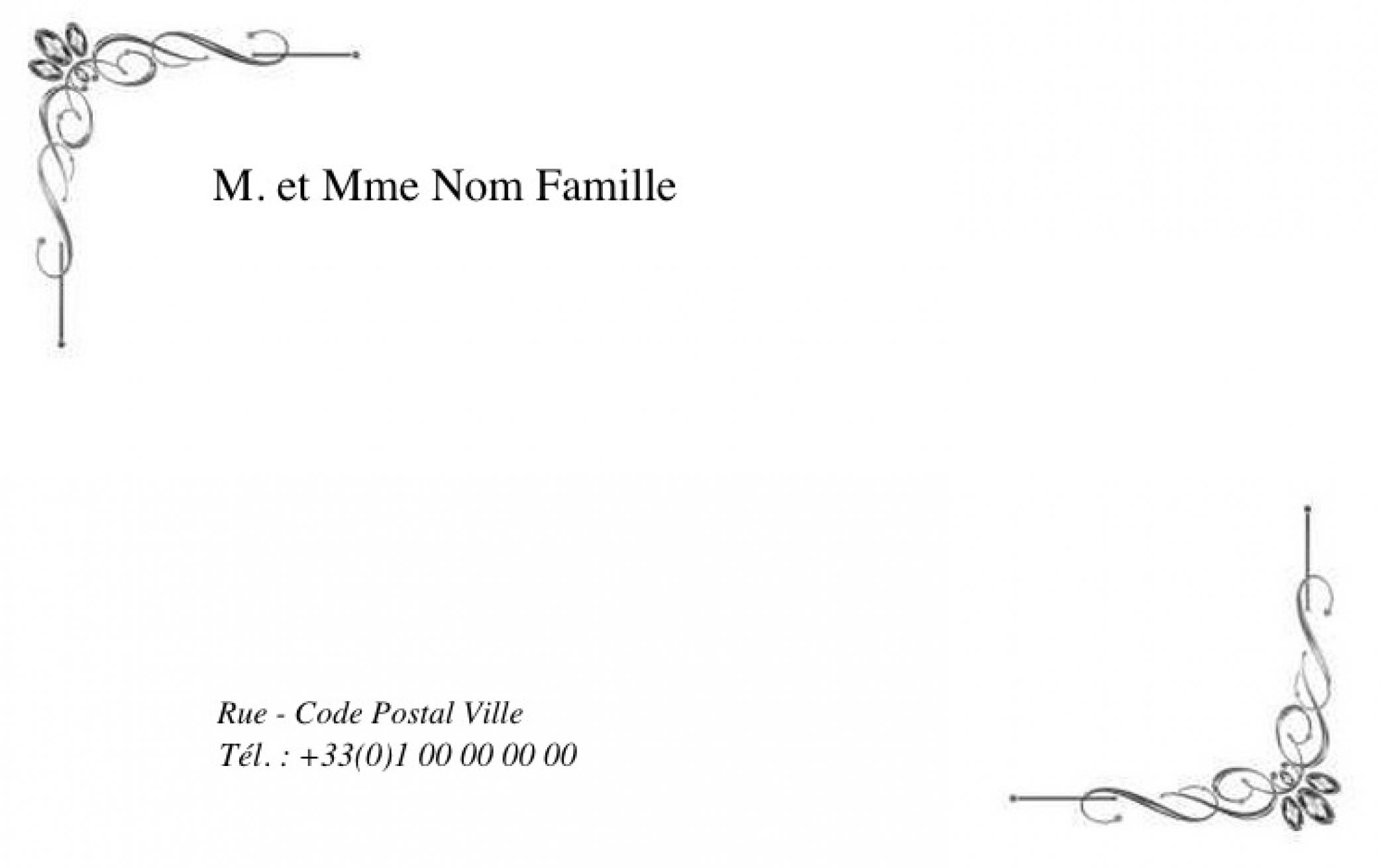 Souvent Pour la famille Grande Cartes de visite Familliale Modèle en Ligne AG03