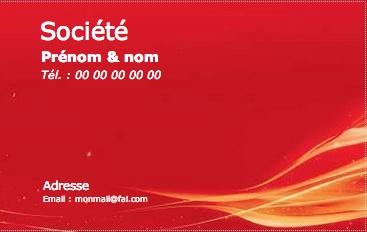 Carte de visite professionnelle mod le gratuit imprimer rouge - Carte de visite gratuite sans frais de port ...
