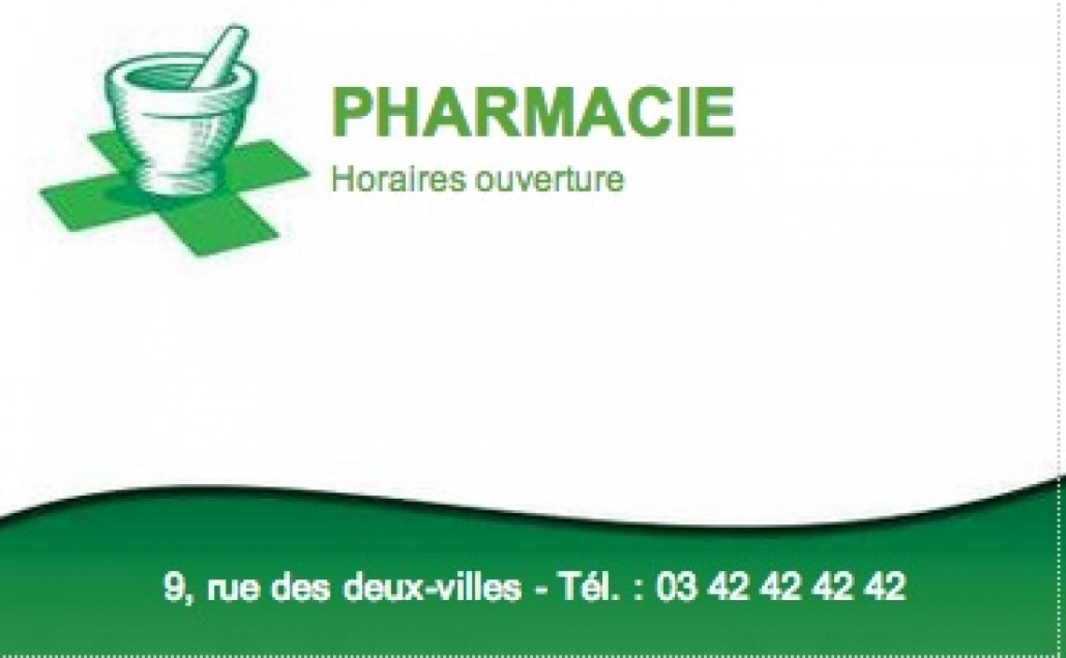 Pharmacie Exemple Carte De Visite Pharmacien Grand Format Personnaliser En Ligne Modle Gratuit Pas Chre