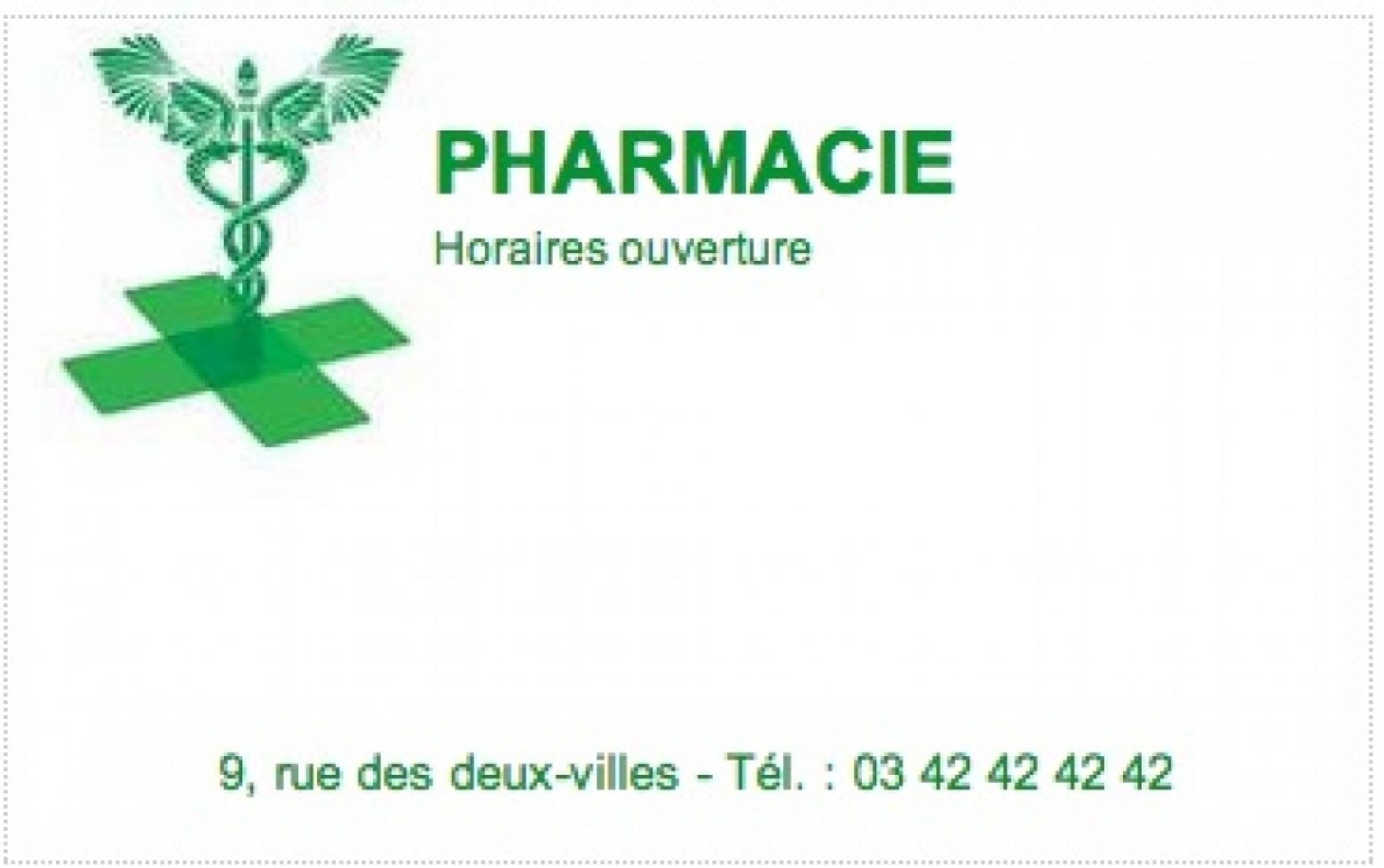 Carte de visite pharmacie mod le gratuit personnaliser - Pharmacie en ligne frais de port gratuit ...