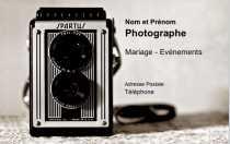 Exemple Carte De Visite Photographe Professionnel 82x128 Personnalise Avec Crer