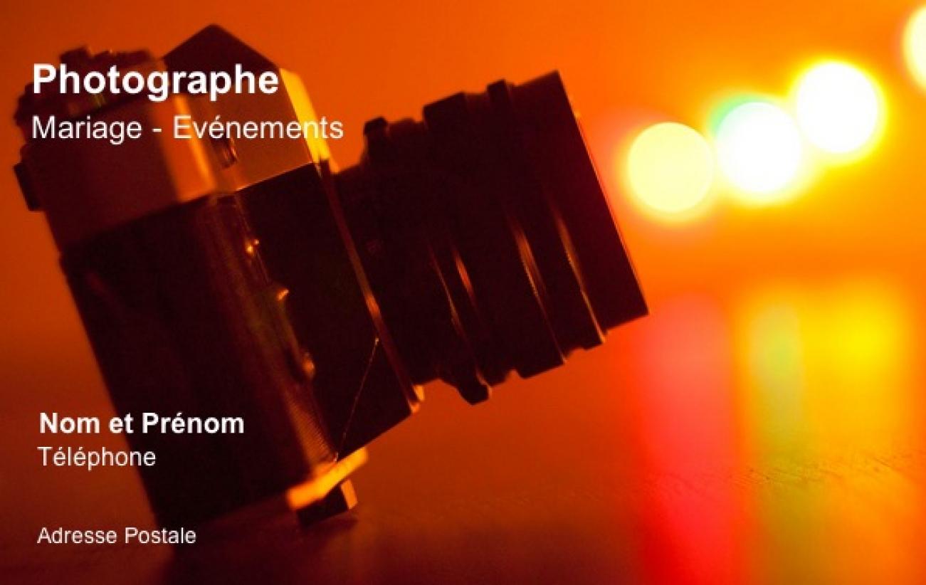Photographe Carte De Visite Originale Modele Gratuit En Ligne A Personnaliser Et Telecharger