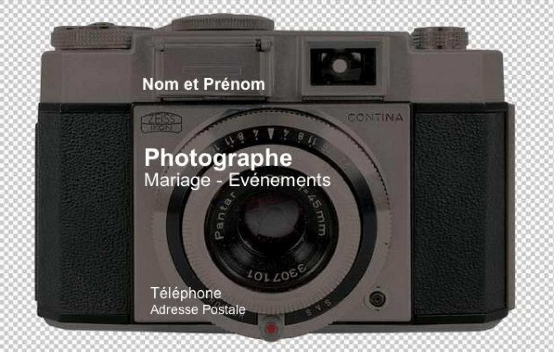 Exemple De Carte Visite Photographe Avec Modle Gratuit Fond Appareil Photo Original Personnaliser Et Imprimer Chez Soi