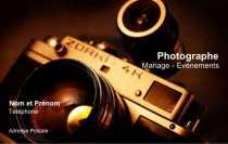 Faire Carte De Visite Photographe Professionnel Classique Familiale Avec Exemple Personnaliser