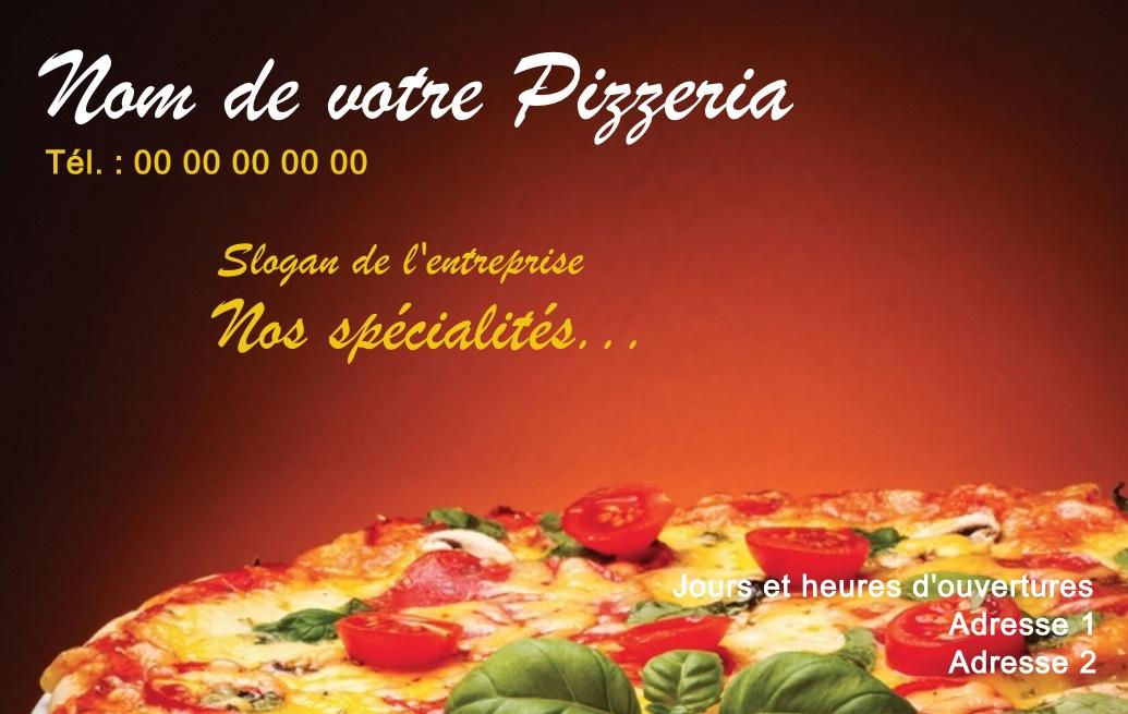 Pizzeria Carte De Visite Restauration Pas Chre Modle Italien Personnaliser En Ligne