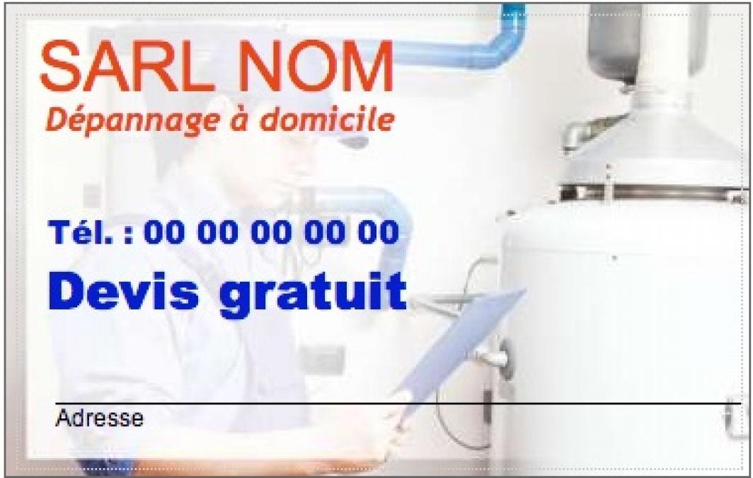 Exemple Carte De Visite Plombier Dpannage Modle Chauffagiste Personnaliser En Ligne Pas Chre