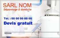 Modele Carte De Visite Plombier Pour Depannage Plomberie Chauffagiste A Personnaliser En Ligne Avec Gratuit