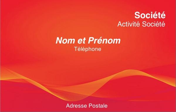 Carte de visite professionnelle mod le gratuit personnaliser rouge - Carte de visite gratuite sans frais de port ...