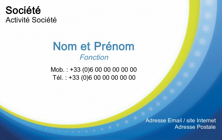Carte de visite professionnelle mod le gratuit personnaliser cercles - Carte de visite gratuite sans frais de port ...