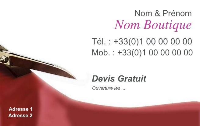 Vtement Carte De Visite Pas Chre Couture Et Retouche Modle Professionnel Gratuit Personnaliser Tlcharger