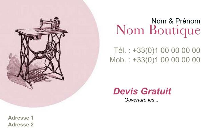 Vtement Carte De Visite Pas Chre Couture Et Retouche Vintage Modle Professionnel Gratuit Personnaliser Tlcharger