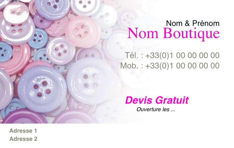 Vtement Carte De Visite Pas Chre Couture Et Retouche Boutons Modle Professionnel Gratuit Personnaliser Tlcharger