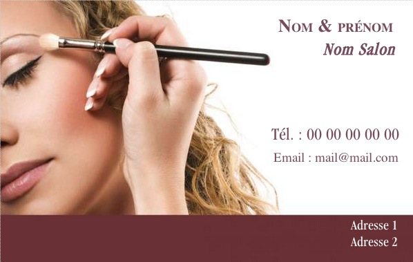 Salon De Beaute Carte Visite Modele Gratuit A Personnaliser En Ligne Pas Chere