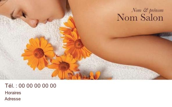 carte de visite beaut massage avec mod le gratuit personnaliser. Black Bedroom Furniture Sets. Home Design Ideas
