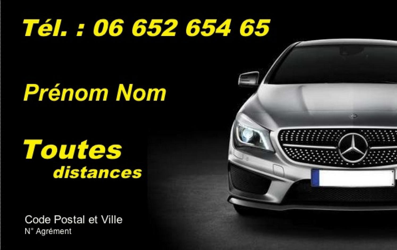 Taxi Modele Carte De Visite Affaire Pas Cher Professionnel Gratuit A Personnaliser Et Telecharger