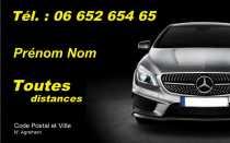 Modele Carte De Visite Taxi Pour Chauffeur VSL Gratuit A Personnaliser