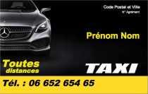 Modele Carte De Visite Taxi Pour VSL Course A Personnaliser En Ligne Avec