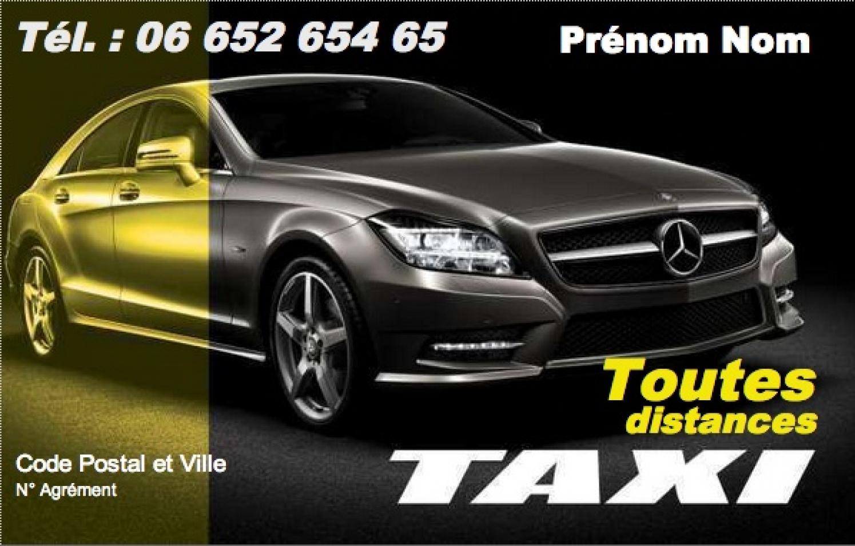 carte de visite chauffeur taxi