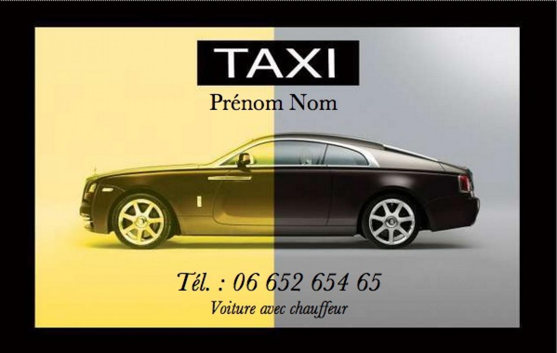 Taxi VSL Modele Carte De Visite Service Pas Cher Gratuit A Personnaliser Et Telecharger