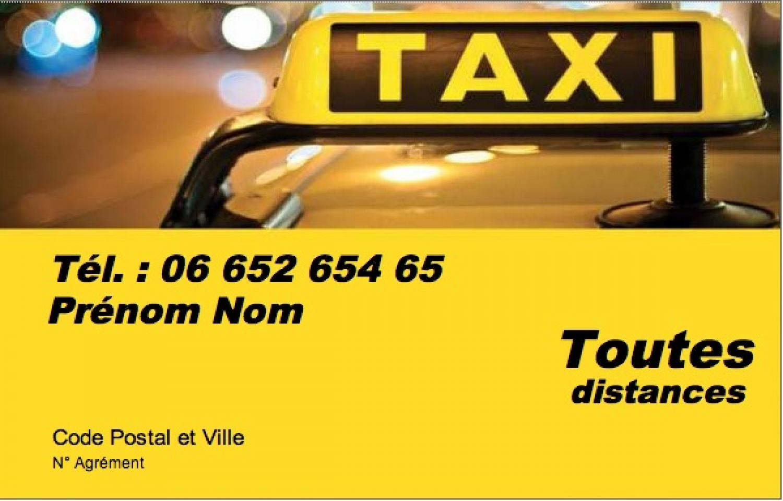 Taxi Parisien Modele Carte De Visite Pas Cher Gratuit A Personnaliser Et Telecharger