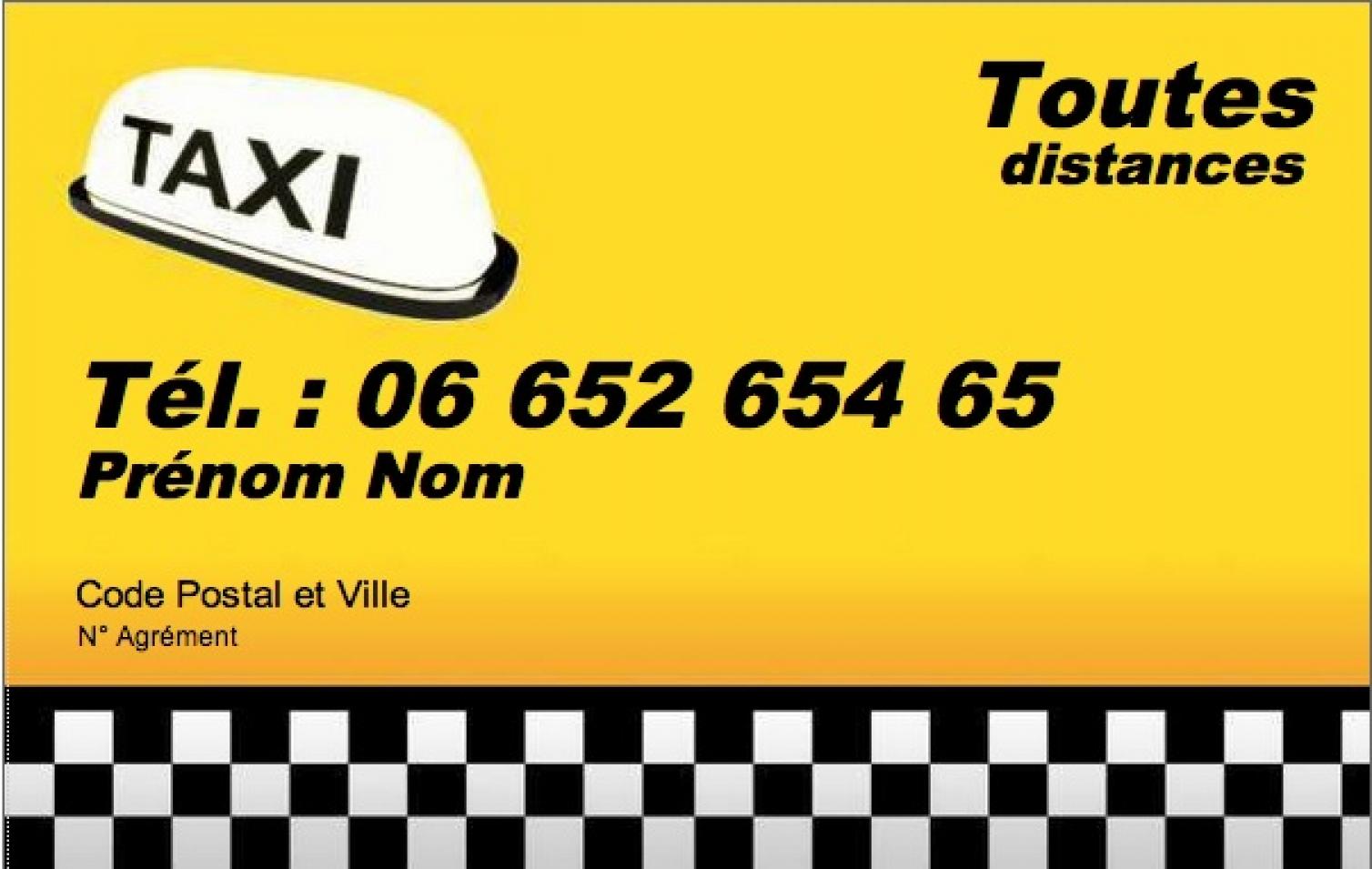 Taxi VSL Modele Carte De Visite Professionnelle Pas Cher Gratuit A Personnaliser Et Telecharger