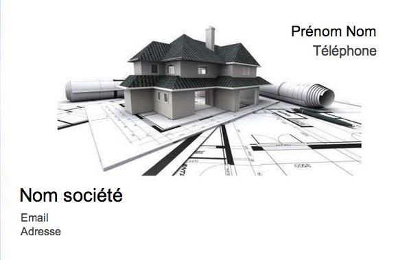 Maison Modle Carte De Visite Construction Pas Cher Professionnel Gratuit Personnaliser Et Tlcharger