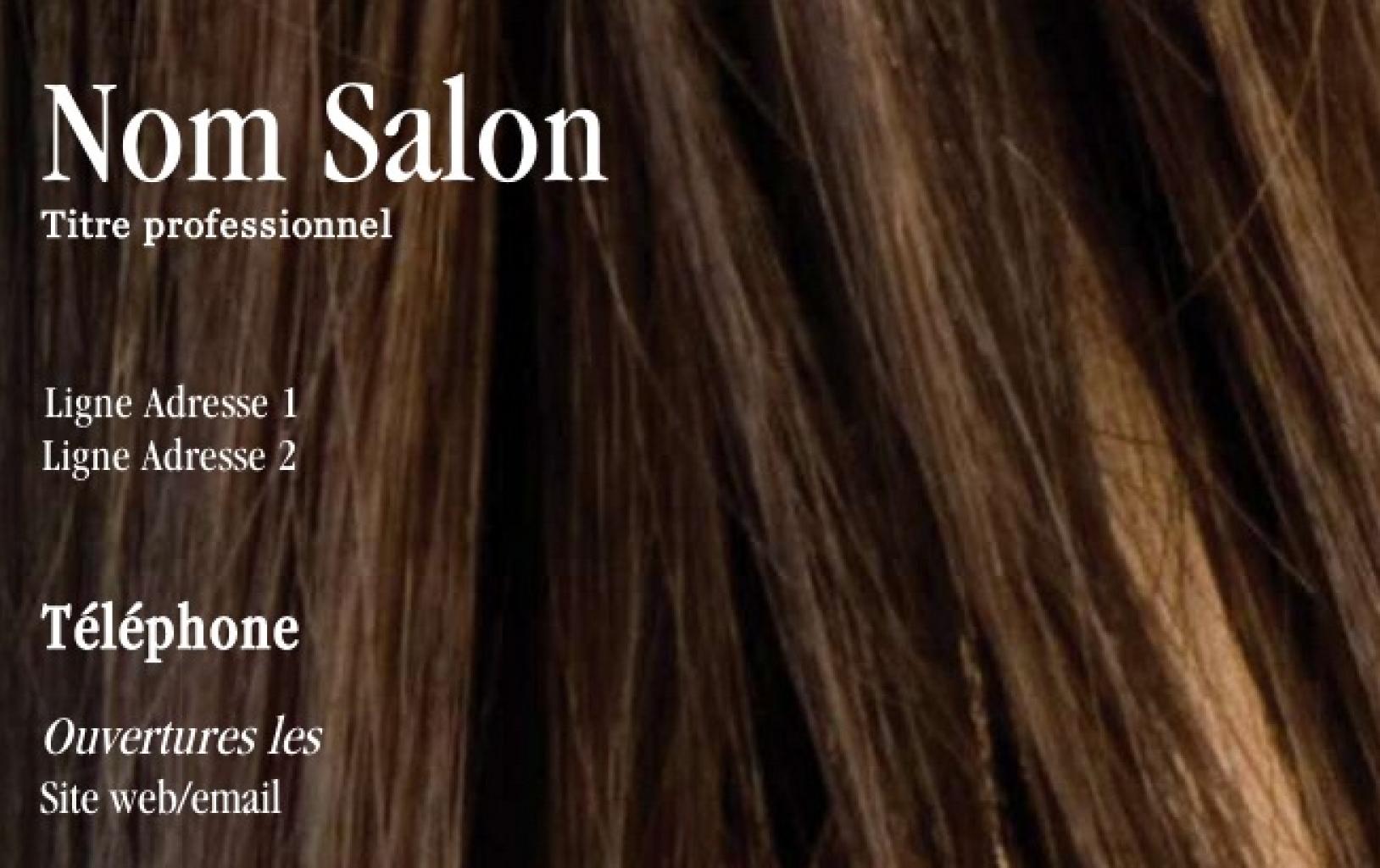 Carte de visite coiffure professionnelle design pas ch re - Nom salon de coiffure ...