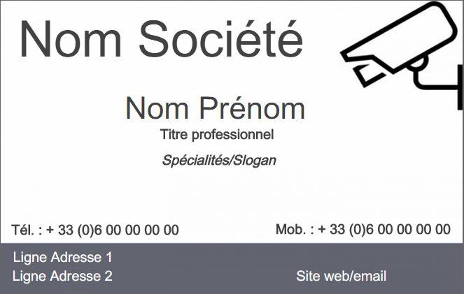 Securite Publique Modele Carte De Visite Metier La Exemple A Personnaliser En Ligne Pas Chere