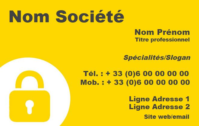 Securite Privee Exemple Carte De Visite Agent A Personnaliser En Ligne Pas Chere