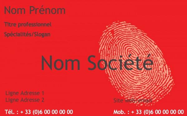 Carte De Visite Agent Securite Metier Exemple A Personnaliser En Ligne Pas Chere