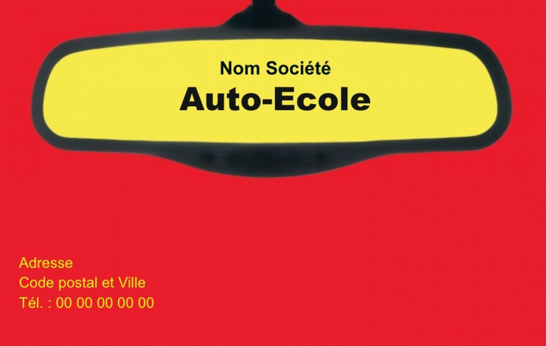 Auto Ecole Carte De Visite Modele Retro Gratuit Avec Impression Pas Chere Ou Telechargement