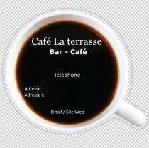 Modele Carte De Visite Carree Cafe Pour Bar Brasserie A Personnaliser En Ligne